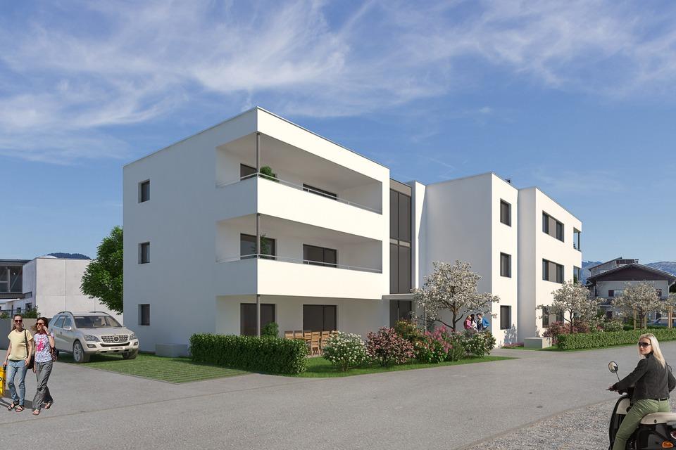4-Zimmer-Wohnung mit großer Süd/Ost Terrasse I Top 05