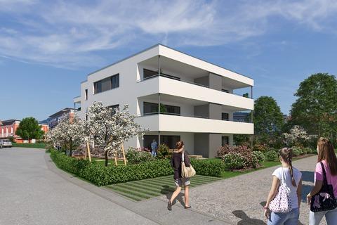 Rheinstraße in Mäder