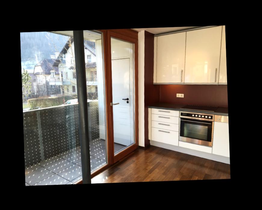 Balkonzugang von Küche aus