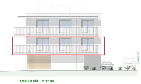 DORNBIRN/NEUBAU: helle 3-Zimmer-Wohnung mit großer Terrasse