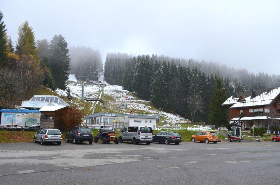 Skilift, Parkplätze