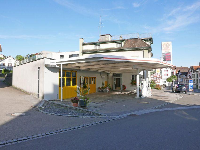 Ansicht Tankstelle
