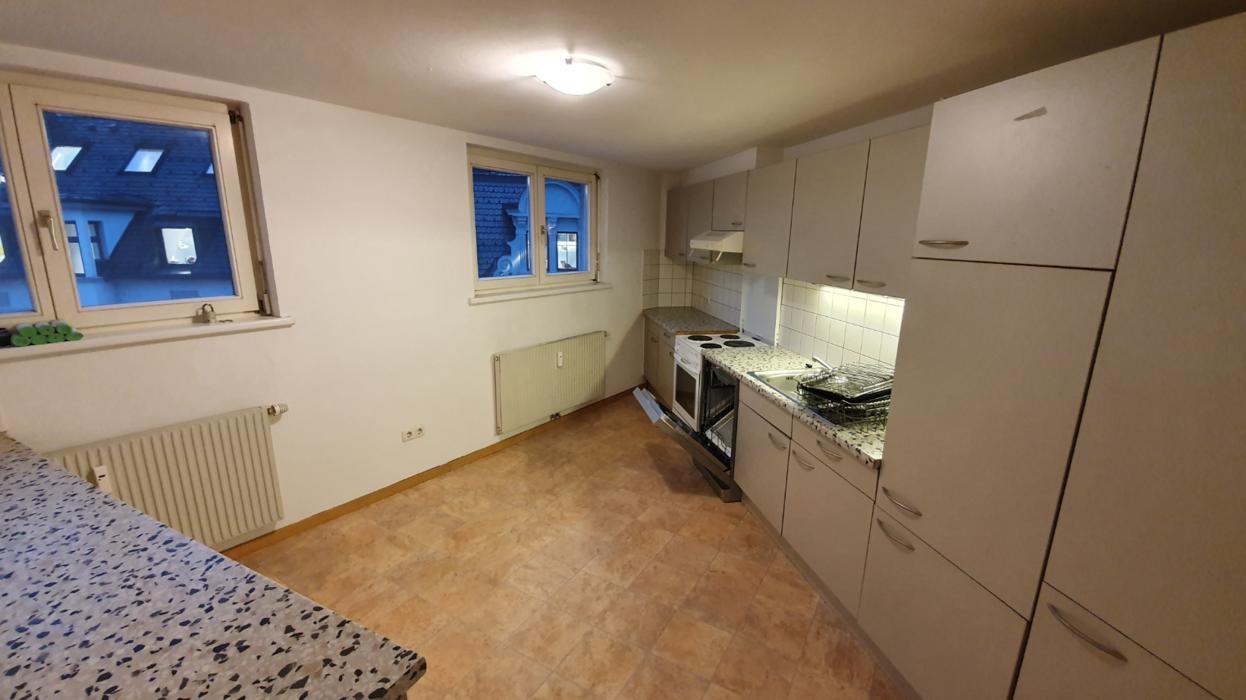 Küche mit Fliesenboden, Natürliches Licht