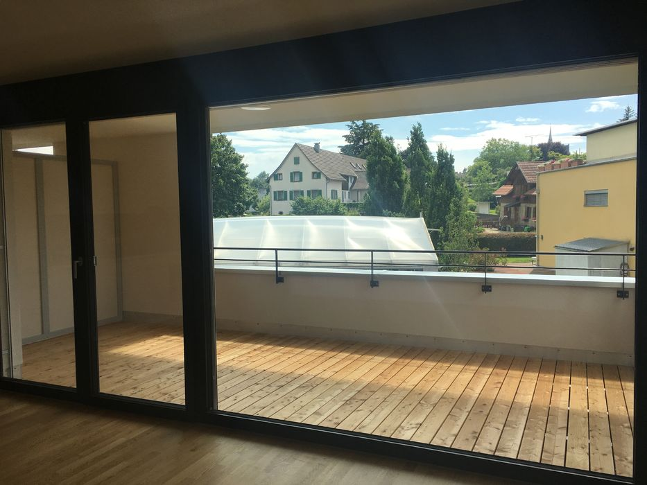 Terrasse mit Hartholzboden